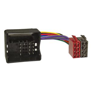 Radioblende Set kompatibel mit BMW 5er E39 X5 E53 schwarz mit Quadlockadapter ISO Fakra Antennenadapter DIN