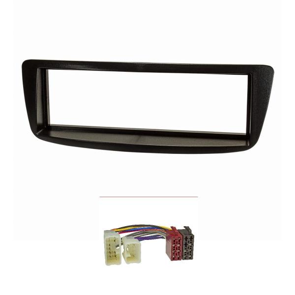 Radioblende Set kompatibel mit Toyota Aygo schwarz mit Radioadapter ISO