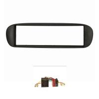 Radioblende Set kompatibel mit Fiat Barchetta Bj.1995-2005 schwarz mit Radioadapter ISO