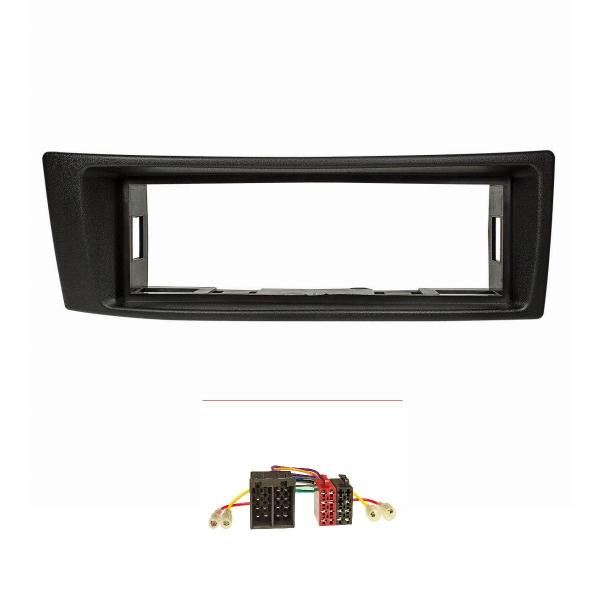 Radioblende Set kompatibel mit Renault Megane I Megane Scenic I schwarz mit Radioadapter ISO