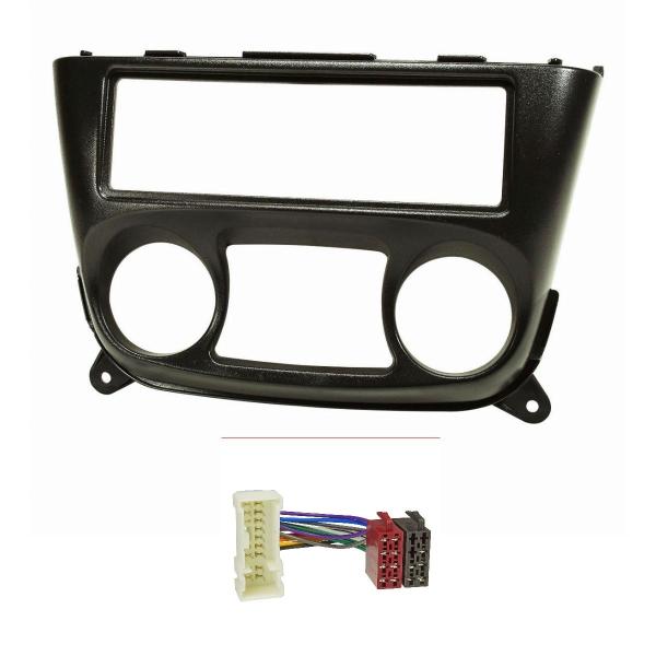 Radioblende Set kompatibel mit Nissan Almera N16 Bj.2000-2006 schwarz mit Radioadapter ISO