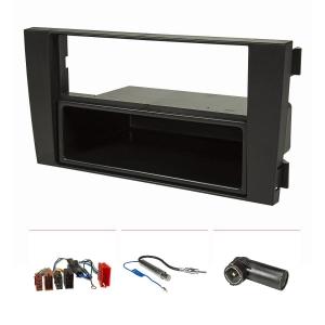 Radioblende Set kompatibel mit Audi A6 C5 4B schwarz mit...