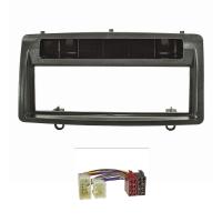 Radioblende Set kompatibel mit Toyota Corolla E12 E120 Bj.2002-2007 schwarz mit Radioadapter ISO