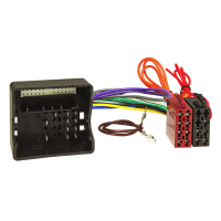 Radioblende Set kompatibel mit Mercedes E-Klasse W211 inkl. Ablagefach mit Quadlockadapter ISO