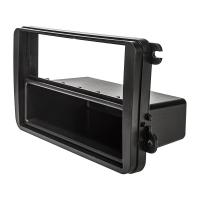 Radioblende kompatibel mit VW Golf 5 6 V VI Plus Touran Passat 3C Caddy EOS Skoda Octavia Fabia Roomster schwarz