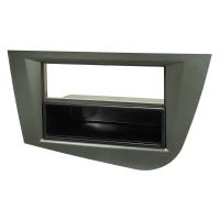 Radioblende kompatibel mit Seat Leon 2 (1P) 2005 bis 2012 graumetallic