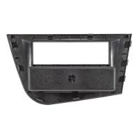 Radioblende Set kompatibel mit Seat Leon 2 (1P) Bj.2005-2012 schwarz mit Quadlockadapter ISO Fakra Antennenadapter Phantomeinspeisung DIN ISO
