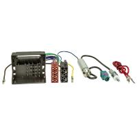 Radioblende Set kompatibel mit Seat Altea FR XL Toledo 5P schwarz mit Quadlockadapter ISO Fakra Antennenadapter Phantomeinspeisung DIN