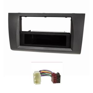 Radioblende Set kompatibel mit Suzuki Swift MZ/EZ Bj.2005-2010 anthrazit / schwarz mit Radioadapter ISO
