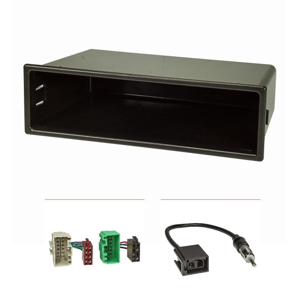 Radioblende Set kompatibel mit Volvo S40 V40 Facelift Bj.2000-2004 mit Radioadapter ISO GT5 Antennenadapter DIN