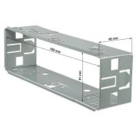 Autoradio Einbaurahmen 1DIN Metallschacht Rahmen 182x53mm Tiefe ca. 45mm