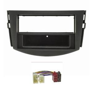 Radioblende Set kompatibel mit Toyota RAV4 schwarz mit...