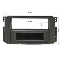 Radioblende Set kompatibel mit Smart fortwo (451) forfour (454) anthrazit / schwarz mit Radioadapter ISO