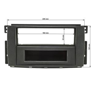 Radioblende Set kompatibel mit Smart fortwo (451) forfour (454) anthrazit / schwarz mit Quadlockadapter ISO