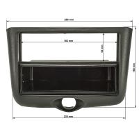 Radioblende kompatibel mit Toyota Yaris P1 Yaris Verso P1 1999 bis 2003 schwarz
