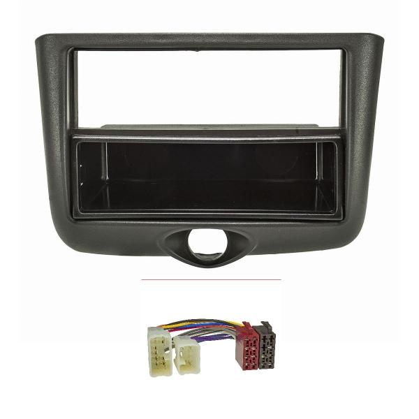 Radioblende Set kompatibel mit Toyota Yaris P1 Yaris Verso P1 Bj.1999-2003 schwarz mit Radioadapter ISO