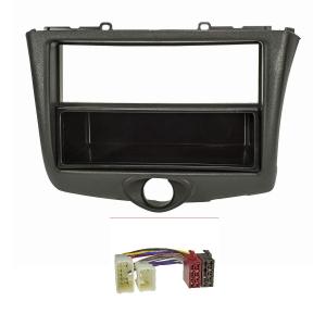 Bj Doppel-DIN Radioblende für Toyota Avensis T25 2003-2009 *schwarz*