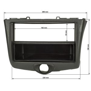 Radioblende Set kompatibel mit Toyota Yaris P1 Facelift Bj.2003-2006 schwarz mit Radioadapter ISO