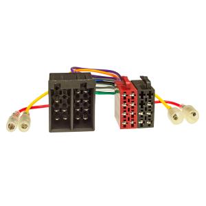 Radioblende Set kompatibel mit Fiat 500 Bj.2007-2015 schwarz mit Radioadapter ISO Antennenadapter ISO DIN Entriegelungsbügel