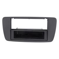 Radioblende kompatibel mit Seat Ibiza 6J 2008-2013 metallic schwarzmatt